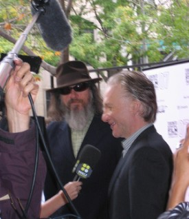 Bill Maher and Larry Charles at TIFF 07